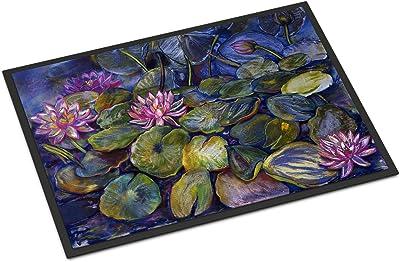 """Caroline's Treasures DND0133JMAT Water Lilies by Neil Drury Indoor or Outdoor Mat, 24"""" x 36"""", Multicolor"""