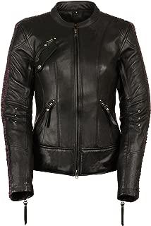 Milwaukee Leather Women's Embossed Phoenix Jacket (Black/Purple, Large)