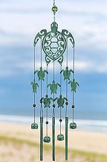 VP Home Tribal Turtles Wind Chime (Rustic Sea Green)