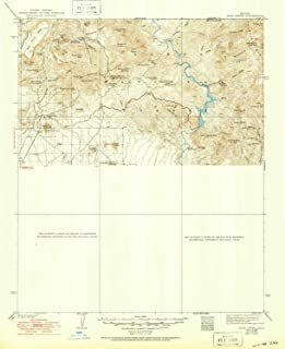 YellowMaps Cave Creek AZ topo map, 1:125000 Scale, 30 X 30 Minute, Historical, 1939, Updated 1950, 20.8 x 16.9 in