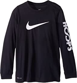 Nike Kids - Dry Hoops Basketball Long Sleeve Tee (Little Kids/Big Kids)