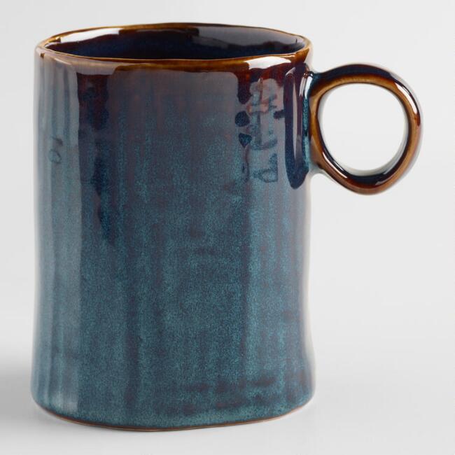 Indigo Organic Reactive Glaze Mugs, Set of 2 | World Market