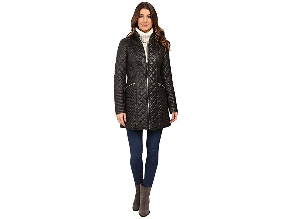 Via Spiga Mixed Quilt Jacket (Black) Women