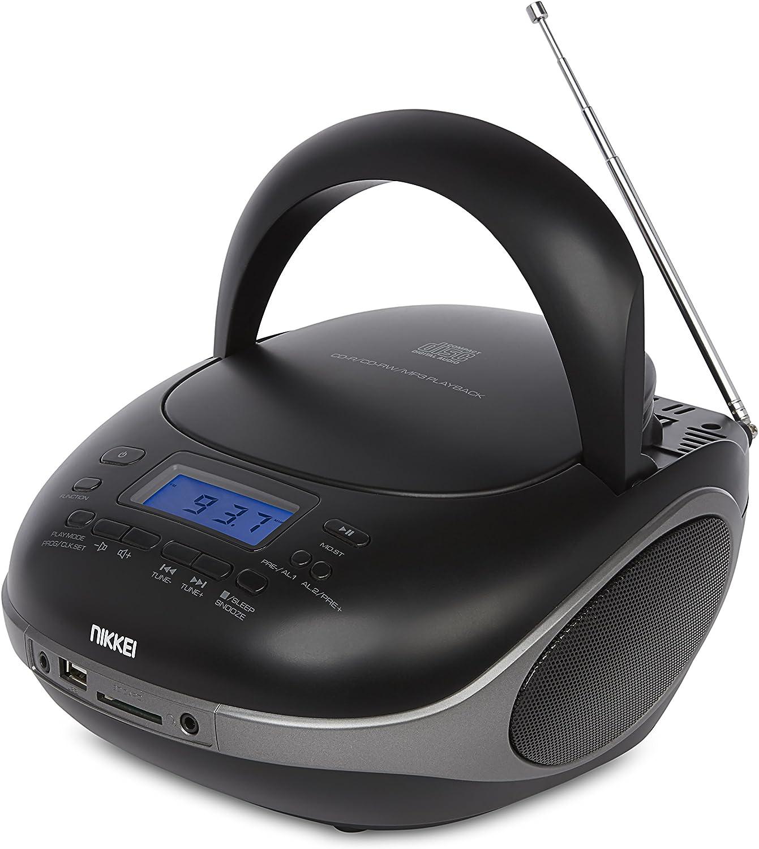 Nikkei Nprc56bk Tragbares Radio Und Cd Player Mit Elektronik