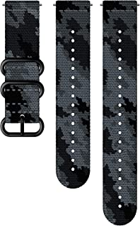 Suunto Watch Strap, 24mm, Textile, Concrete Black- Explore, M+L: 130-240 mm