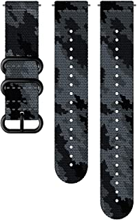(SUUNTO) Exchange Strap 24MM EXPLORE2 Textile Strap M + L SS050230000 Concrete/Black