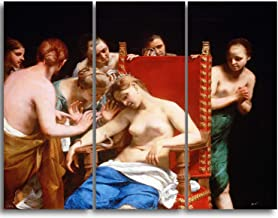 DESIGN ART 'Guido Cagnacci - The Death of Cleopatra' Canvas Art Print 36 in. Wide x 28 in. high - 3 Panels