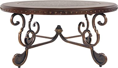 Signature Design by Ashley - Rafferty Traditional Round Coffee Table, Dark Brown