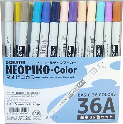 Derita Alkohol Marker Neopiko Farbe 36 Farben Ein Satz