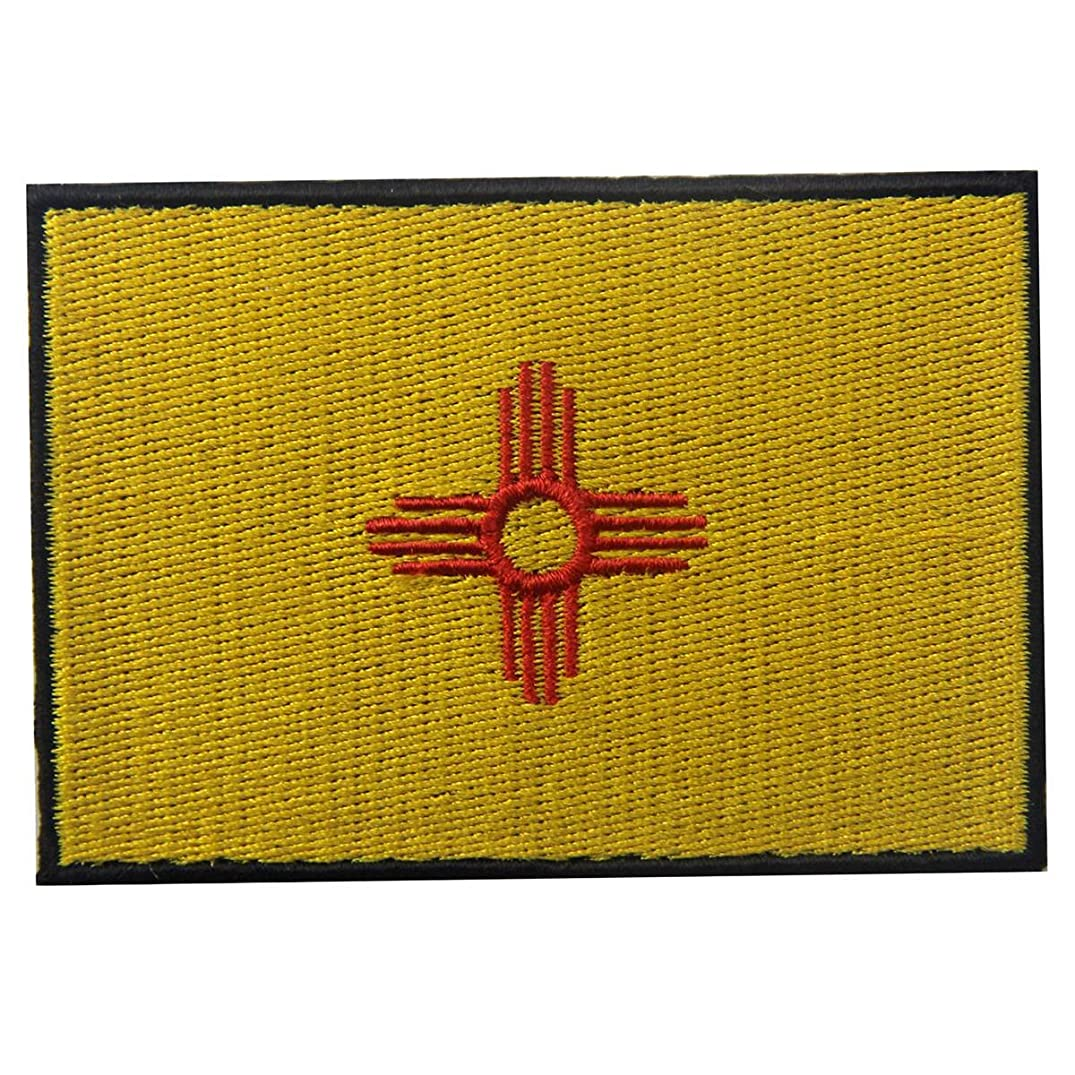 New Mexico State Flag Embroidered Emblem Iron On Sew On NM Patch