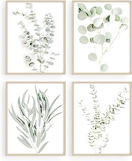 Botanical Plant Wall Art Prints – Set of 4 Plant Wall Decor Pictures Minimalist..