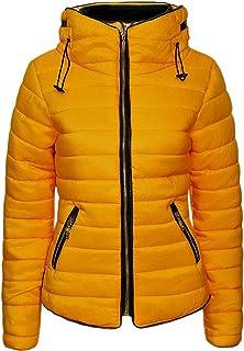 Generic Womens Winter Warm Solid Longline Packable Slim Parka Padded Coat Grey XS