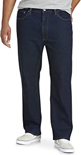 Amazon Essentials Men's Big & Tall Relaxed Straight-fit Stretch Jean fit by DXL