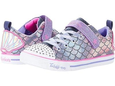 SKECHERS KIDS Twinkle Toes Sparkle Lite 314752L (Little Kid/Big Kid) (Navy/Multi) Girl