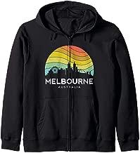 Melbourne Australia Retro Vintage Flag Outback Kangaroo Mate Zip Hoodie