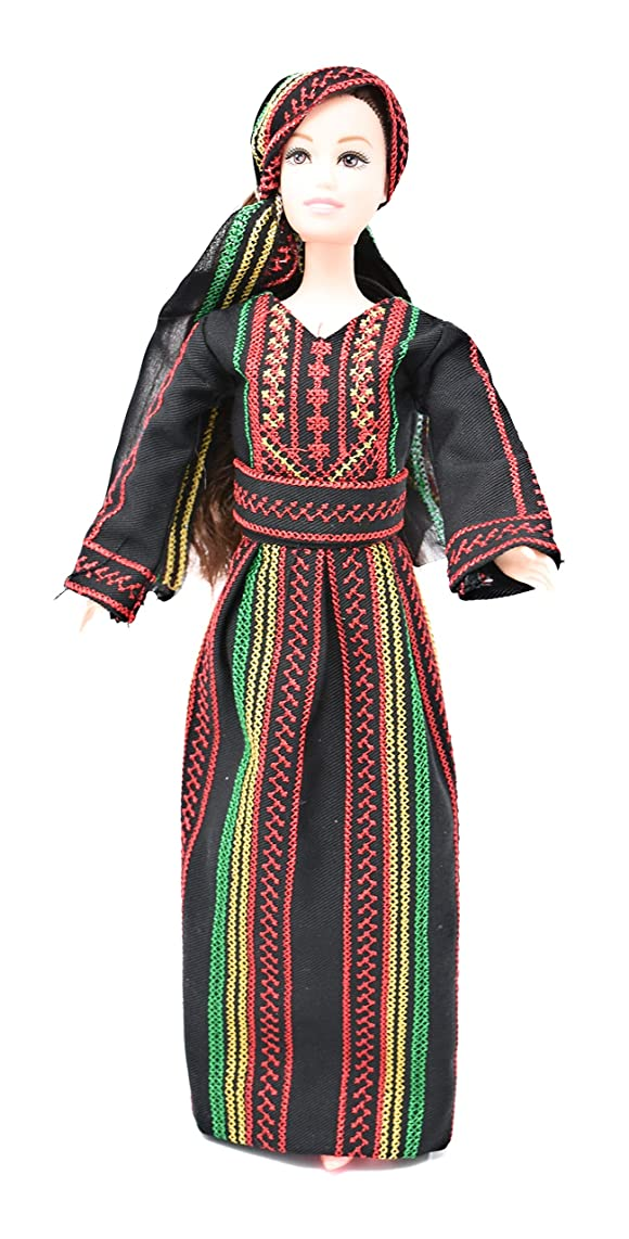 Jafra Doll - Black & Red Dress Embroidery