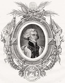 Bon Adrien Moncey, Duc De Conegliano, 1754-1842. French Marshal. Engraved By Pannemaker-Ligny After Li_nard. From Histoire...