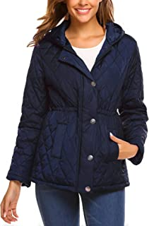 Women's Packable Lightweight Quilted Outdoor Puffer Vest Jacket Hooded Coat with Pocket