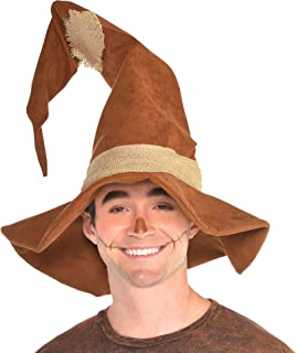amscan Scarecrow Hat Halloween Costume Accessories for Adults, One Size