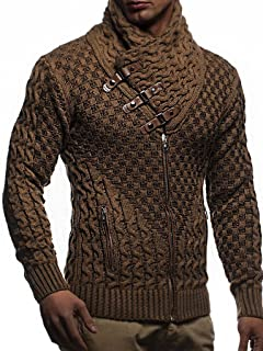 Men's Knitted Jacket Turtleneck Cardigan Winter Pullover Hoodies Casual Sweaters Jumper LN5340