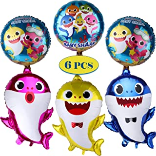 Offer Max Baby Shark Balloons Party Supplies Shark Balloons for Baby Birthday Decorations Toys Children Reusable 18 inch l...