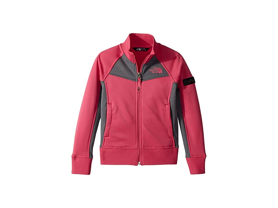 The North Face Kids Take Back Track Jacket (Little Kids/Big Kids) (Petticoat Pink/TNF Medium Grey Heather) Girl