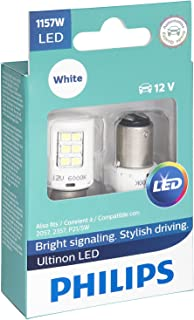 Philips 1157 Ultinon LED Bulb (White), 2 Pack