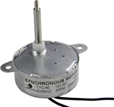 CHANCS TYC40 12V 5RPM AC Synchronous Electric Gear Motor Shaft 3.5cm