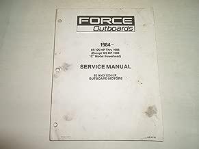 1984 1988 Force Outboards 85 125 HP Motors Service Repair Manual WATER DAMAGED