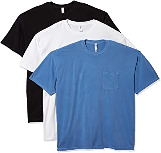 Marky G Apparel Men's Inspired Dye Crewneck Short Sleeve T-Shirt with Pocket (Pack of 3)
