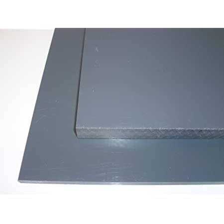 Plaque coup/é de PE rigide 495 x 495 x 25 mm noir Poly/éthyl/éne