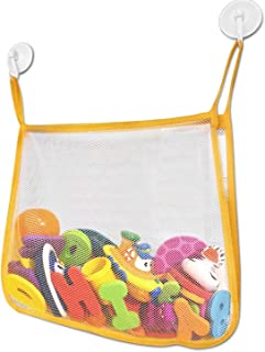 Bath and Shower Toy Organizer - Large Mesh Toy Net with 2 Strong Suction Cups For Smooth Surfaces - Keep Your Kid's Bath Tub Toys Dry and Off of the Bathtub and Bathroom Floor - Great For Showers