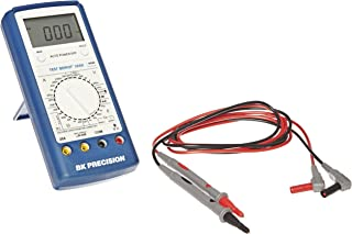 BK Precision 388B Manual-Ranging, Average-Sensing Digital Multimeter, with Logic Test and Transistor Gain, 20 Amp, 750VAC, 1000VDC, 40 Megaohms, 40 Microfarads, 4 MHz