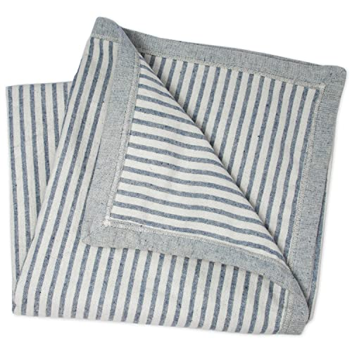 """WILD BABY Large Oversized Denim Baby Blanket 47"""" x 47"""" 100% Upcycled Woven Cotton for Boy Or Girl"""