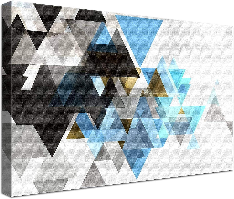 LANA KK Luxus Ausführung – – – Triforce Light  Abstraktes Design auf 4 cm Echtholz-Keilrahmen - Fotoleinwand-Kunstdruck in Blau, 120 x 80 x 4 cm B074QRQXY1 | Neuheit Spielzeug  efd3c7
