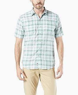 Men's Short Sleeve Seersucker Gingham Shirt