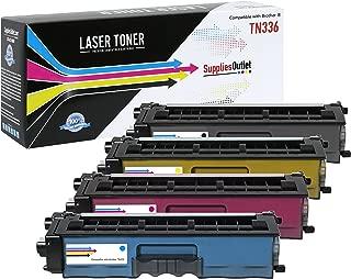 TN331C TN331M 4X High Yield BLACK /& COLOR Toners for BROTHER TN331K TN331Y