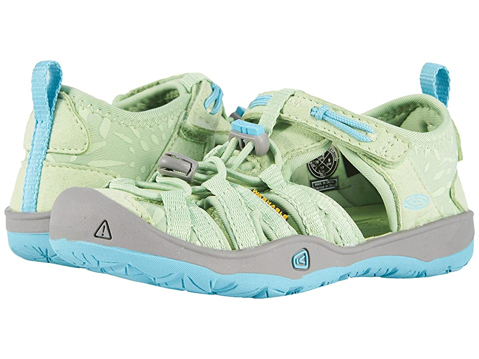 Keen Kids Moxie Sandal (Toddler/Little Kid) (Quiet Green/Aqua Sea) Girl