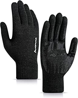 (Upgraded) HONYAR Winter Knit 360° Whole Palm Touchscreen Gloves for Men and Women with Anti-Slip Grip and Warm Soft Lining