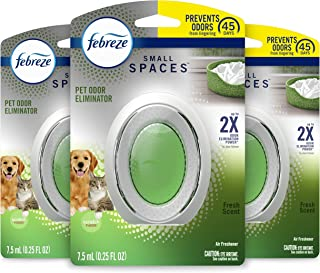 Febreze Small Spaces Pet Air Freshener, Odor Eliminator, Fresh Scent, 3 Count