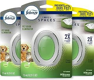 Febreze Small Spaces Pet Odor Eliminator, Air Freshener, Fresh Scent, 3 Count