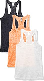 Marky G Apparel Women's Burnout Racerback Tank Top (Pack of 3)