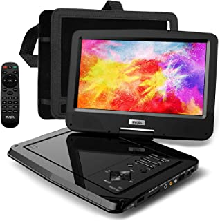 """SUNPIN Portable DVD Player 12.5"""" for Car and Kids, 10.1 inch Eyesight Protective HD Swivel Screen, Stereo Speakers&Dual Ea..."""