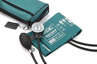 American Diagnostic 768-11ATL - Esfigmomanómetro aneroide de bolsillo con puños de presión arterial de nailon para adulto y maletín de transporte, color azul