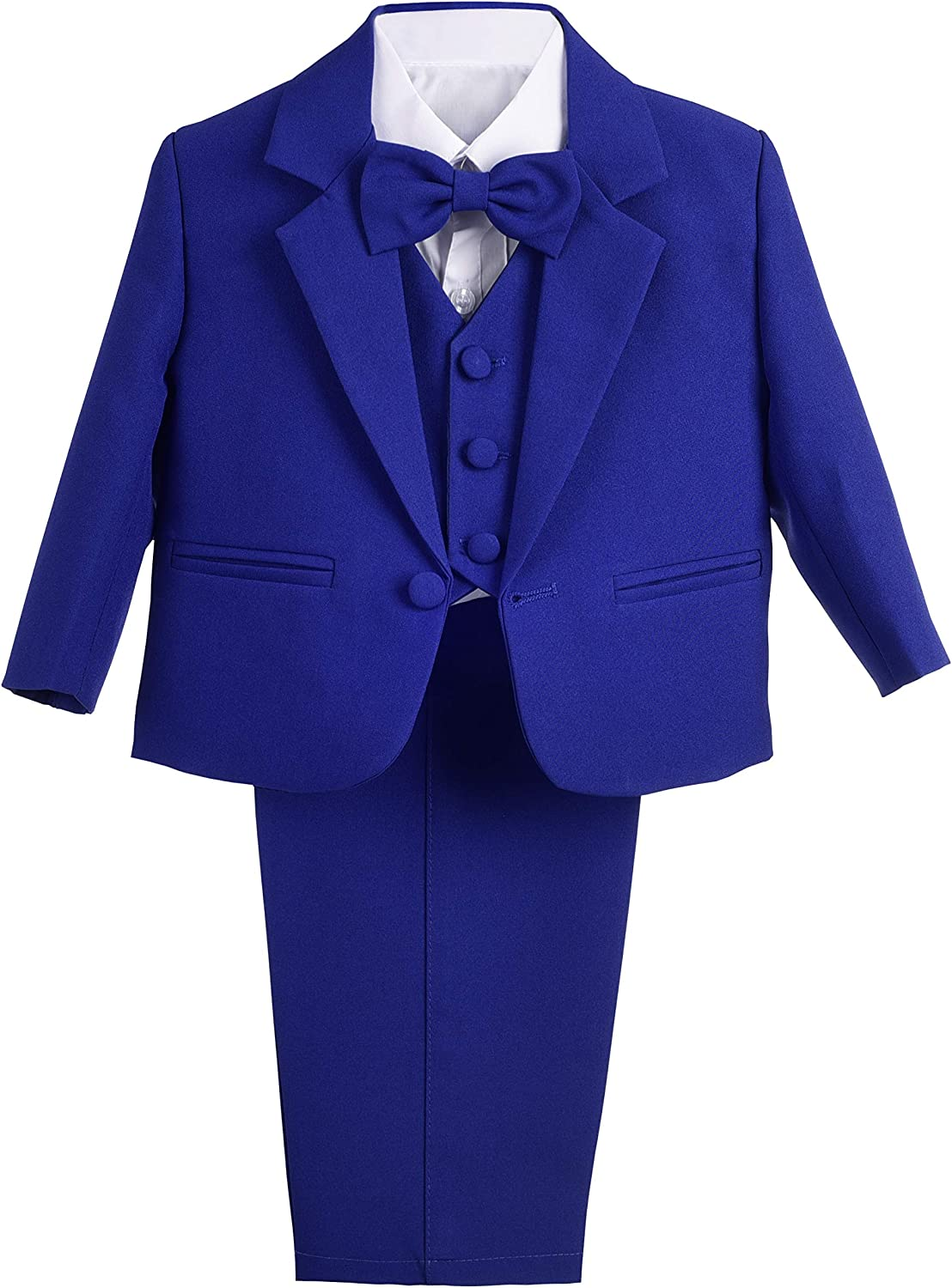 Lito Angels Baby Boys' Formal Tuxedo Suits Wedding Christening Outfits No Tail 5 Piece Set 022