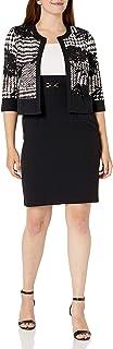 Sandra Darren Women's 2 Pc 3/4 Sleeve Printed Jacket Dress Set
