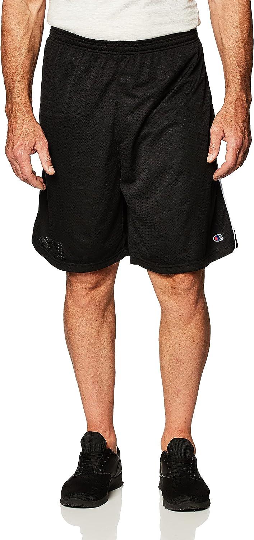 Champion Men's Big-Tall Mesh Short with Piping