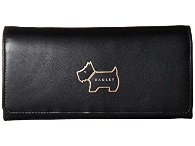 Radley London Heritage Dog Outline Large Flapover Matinee (Black) Wallet Handbags