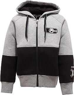 Bikkembergs 4944W Felpa Bimbo Full Zip Boy Grey/Black Neoprene Sweatshirt