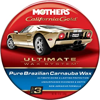 Mothers 05550-6 California Gold Pure Brazilian Carnauba Wax Paste (Ultimate Wax System, Step 3) - 12 oz, (Pack of 6)